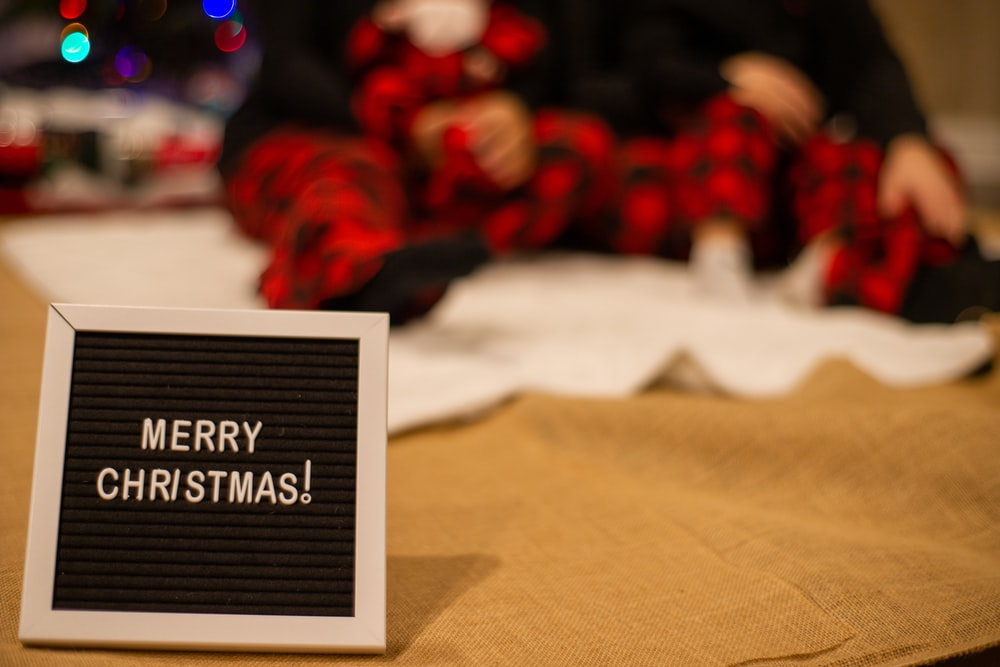 merry Christmas text on paper