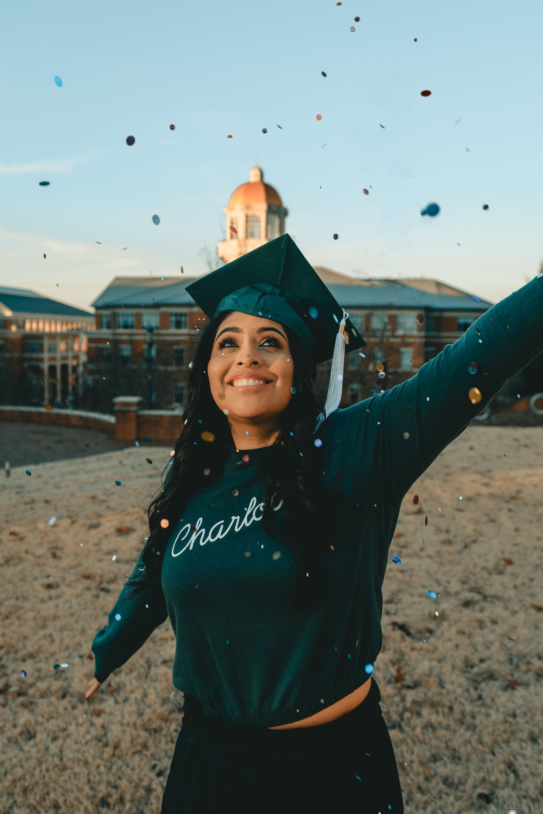 Graduation Celebration at UNC Charlotte, with confetti! (2/2) [ IG: @clay.banks ]