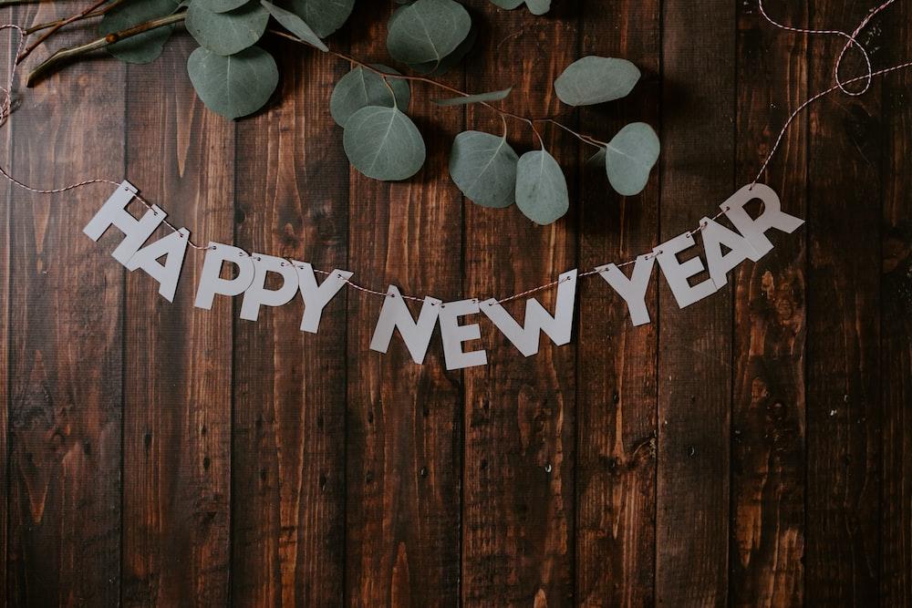 happy new year hanged decor