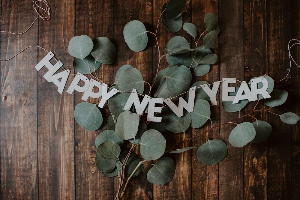 Happy New Year signage