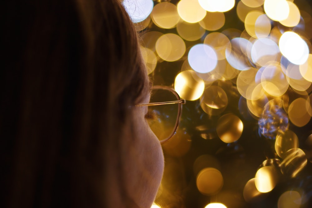 women's brown framed eyeglasses