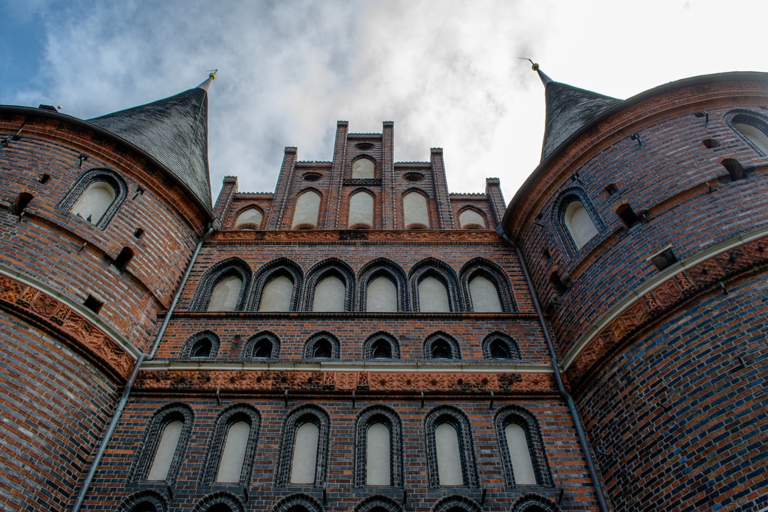 The famous city gate of Lübeck, Germany.