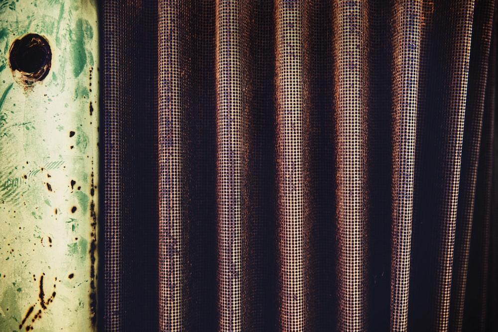 brown curtain