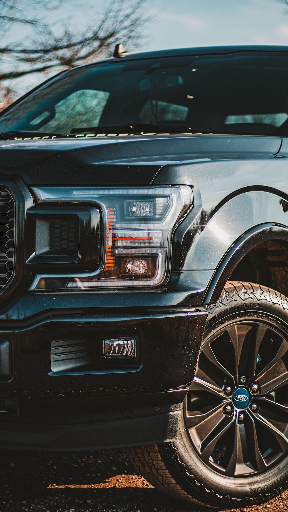 black Ford vehicle