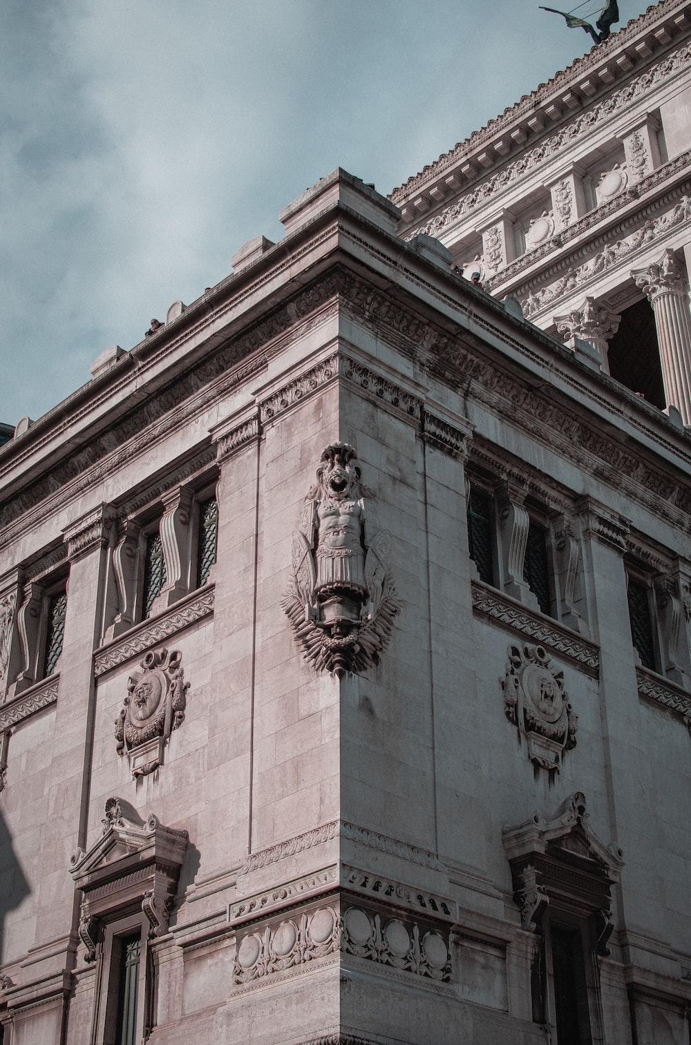 Altare della Patria in Rome Italy under white and blue sky