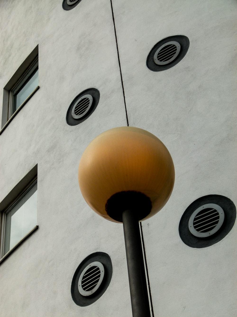 orange outdoor lamp post