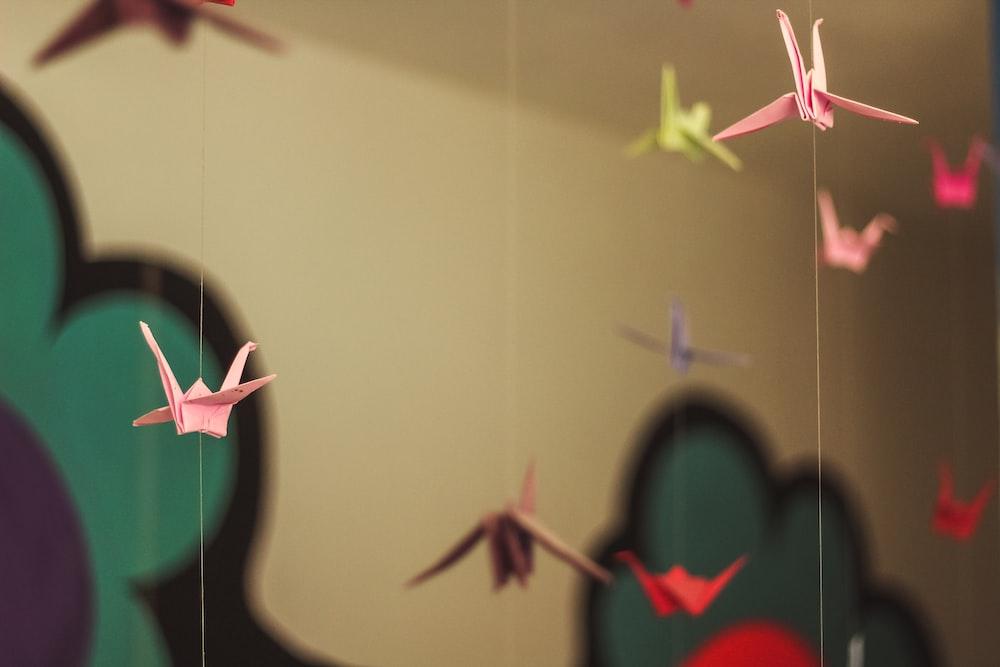 hanging bird 3D origamis