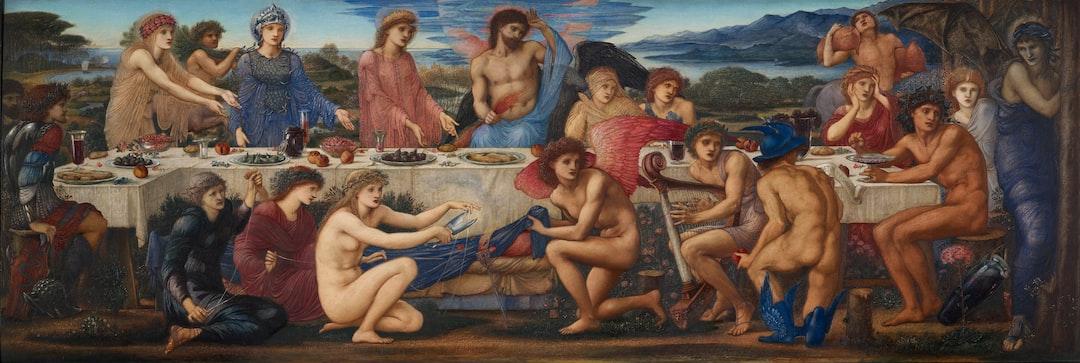 The Feast of Peleus. Artist: Sir Edward Burne-Jones