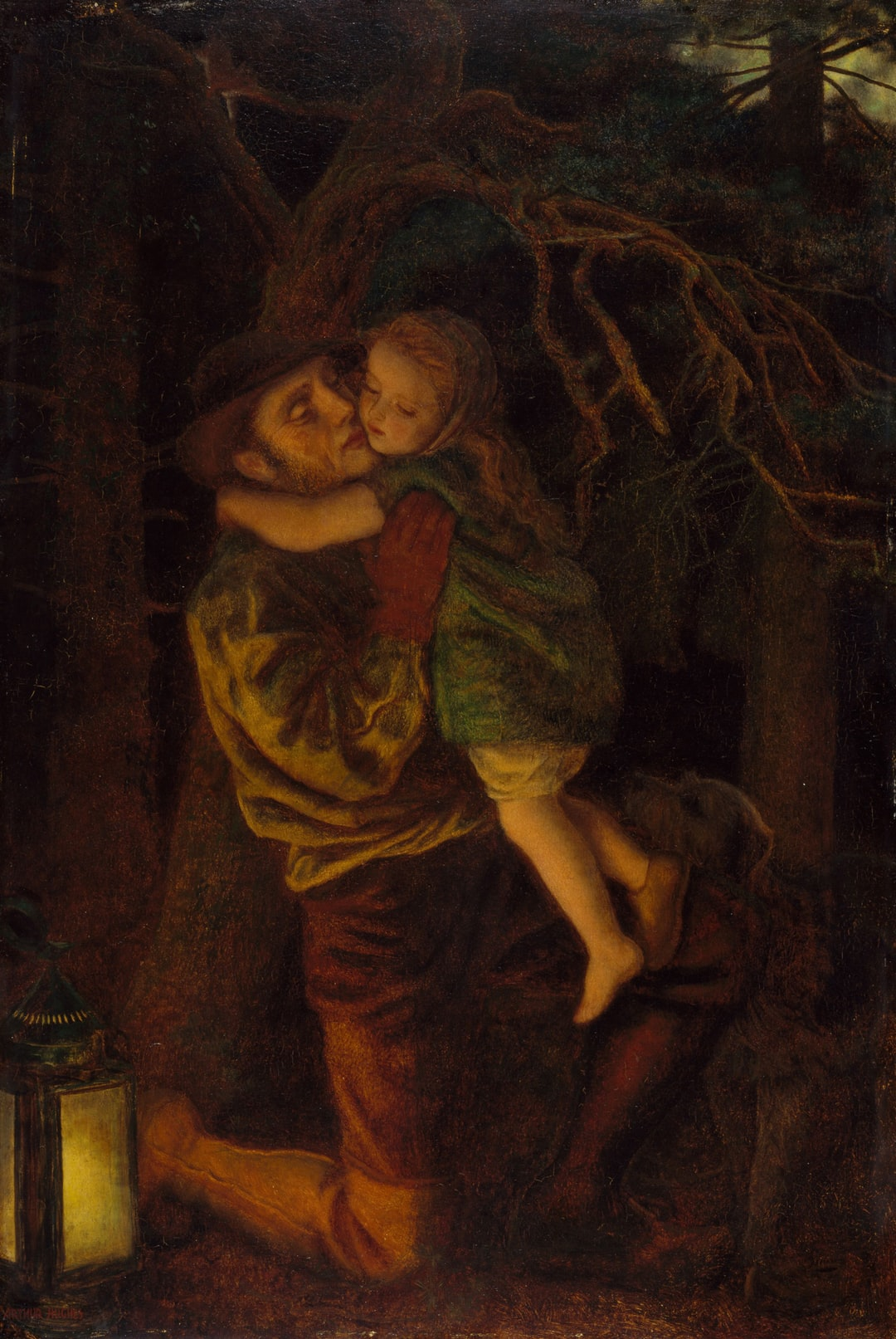The Lost Child, 1866. By Arthur Hughes