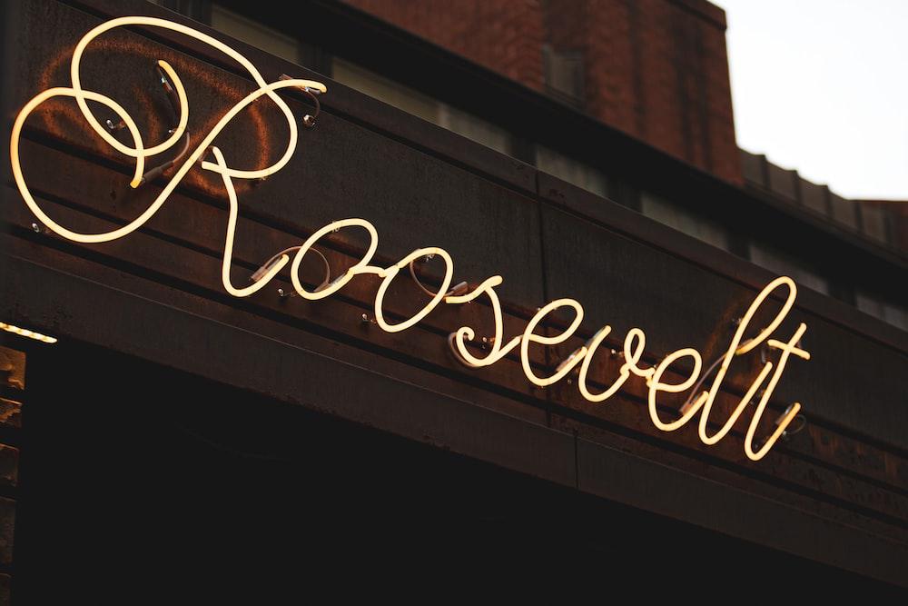 yellow Roosevelt LED signage