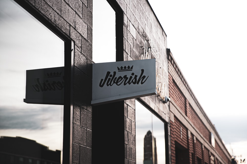 Jiberish signage