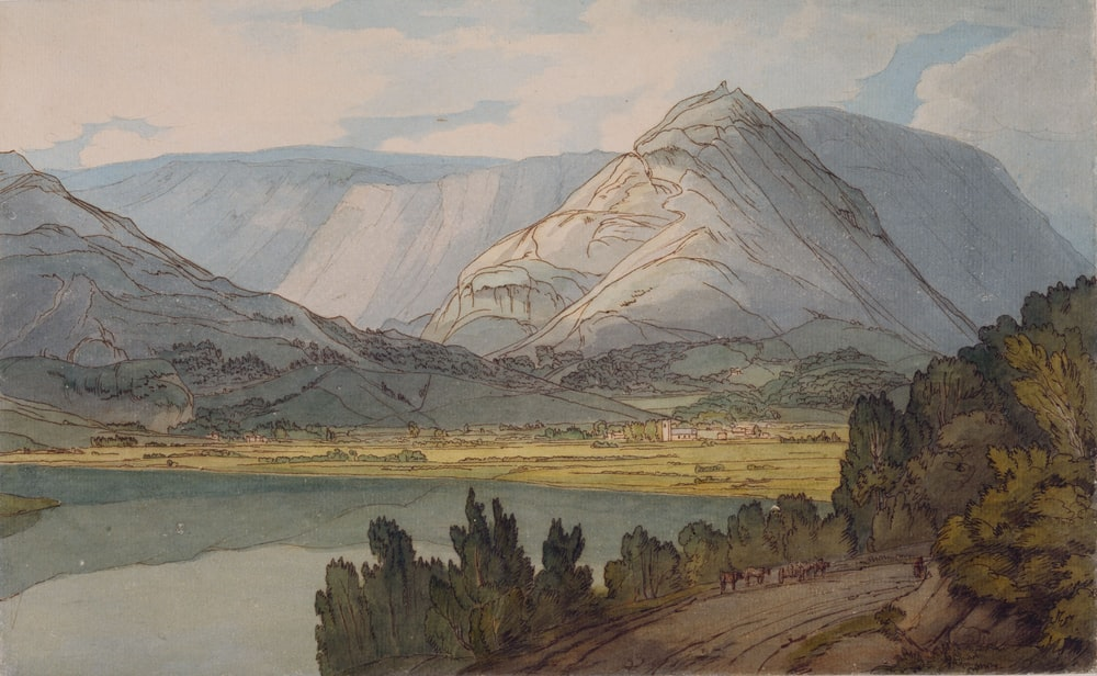 painting of mountains