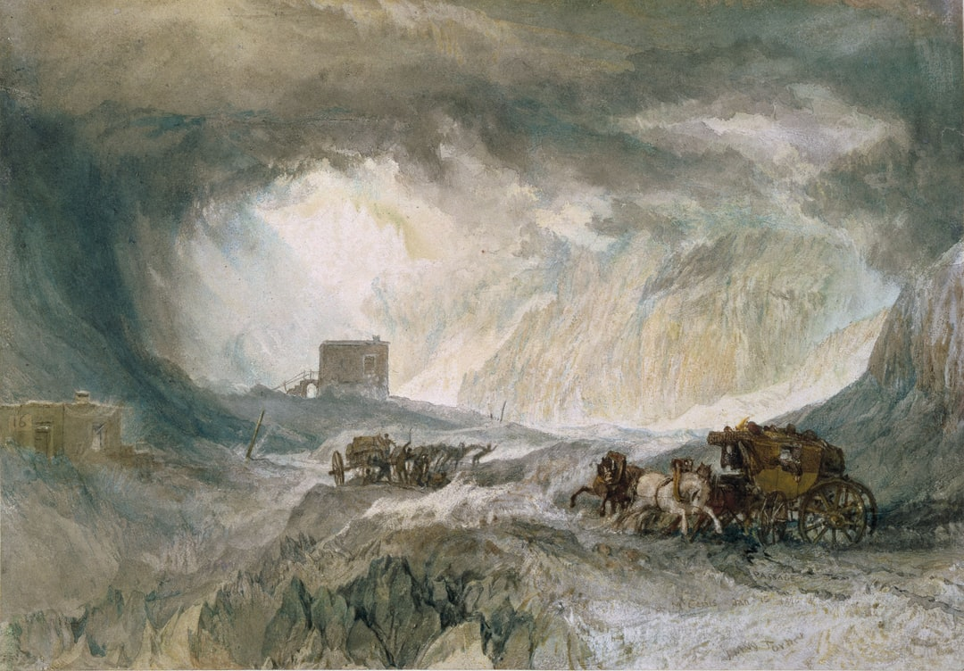 Snowstorm, Mont Cenis, 1820, By: J M W Turner