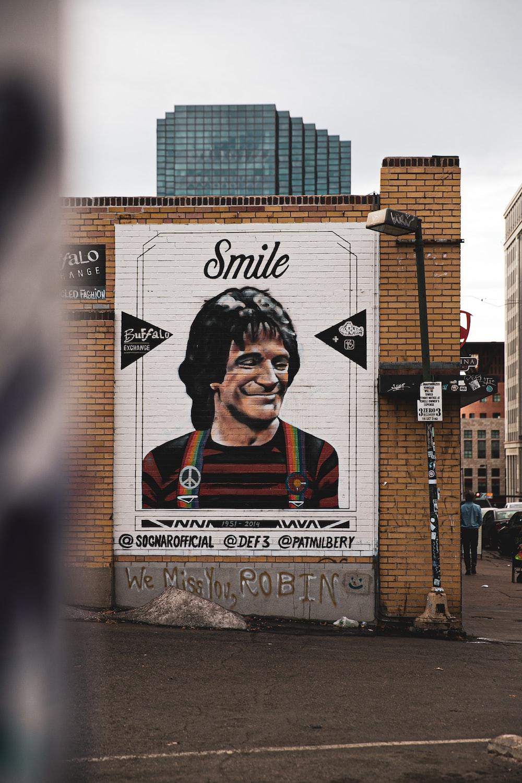 Smile wall art