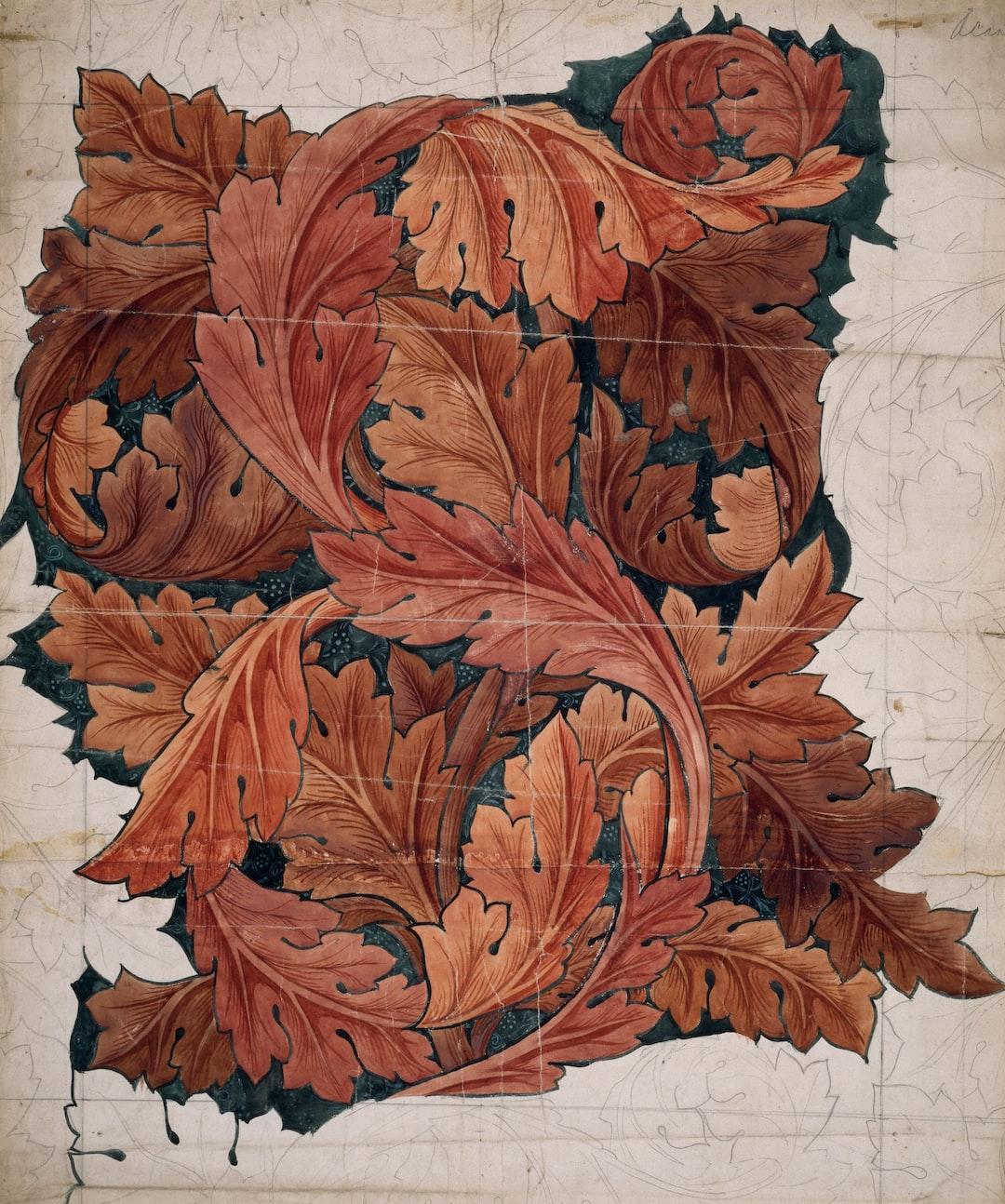 Acanthus, 1879-1881. Wallpaper design by William Morris