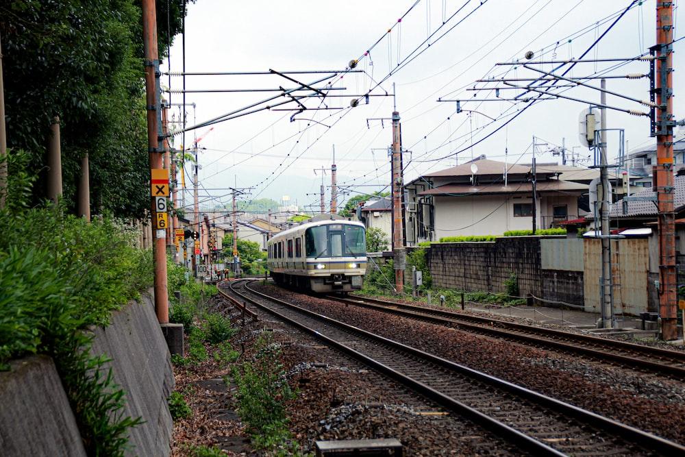 running train during daytime