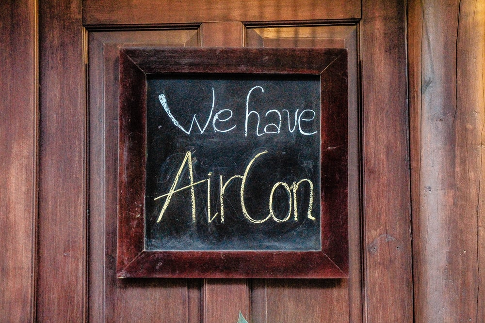we have aircon signage