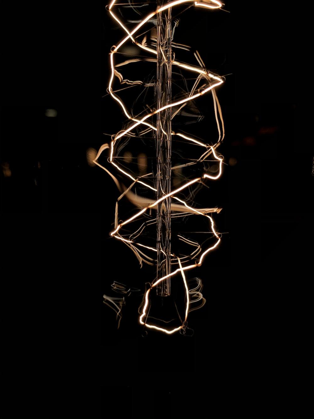 lighted white string lights