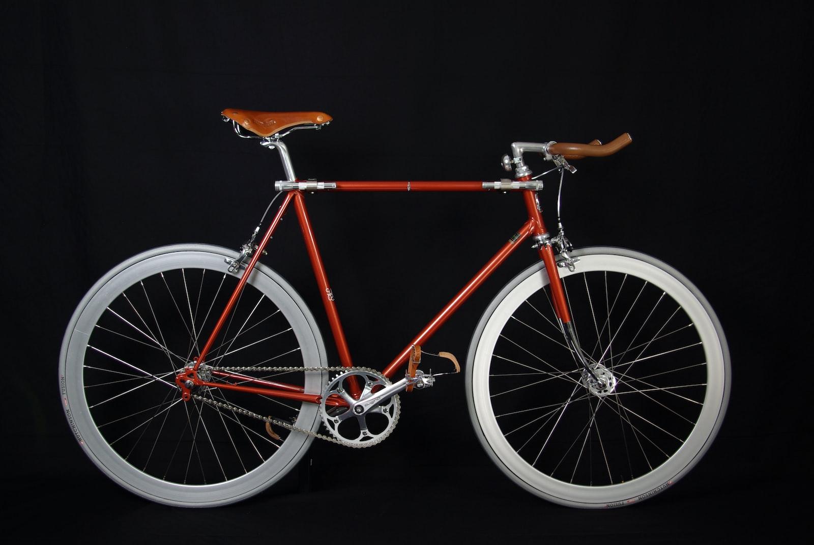 "Pentax K10D sample photo. ""Red fixie bike"" photography"
