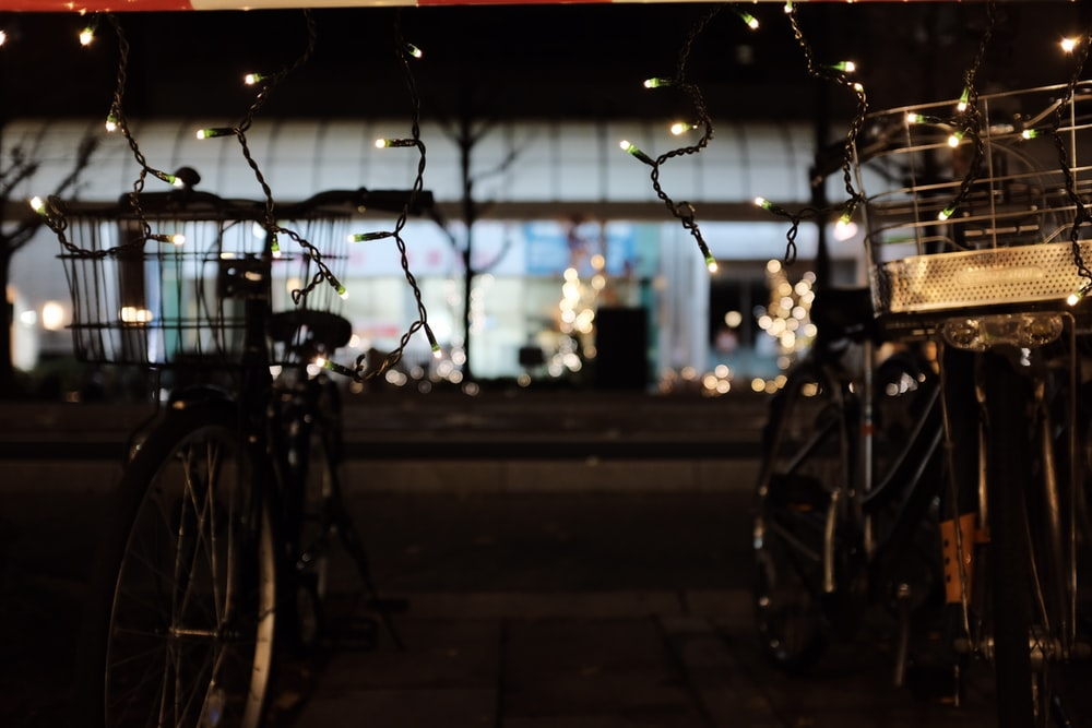 black bicycle photograph
