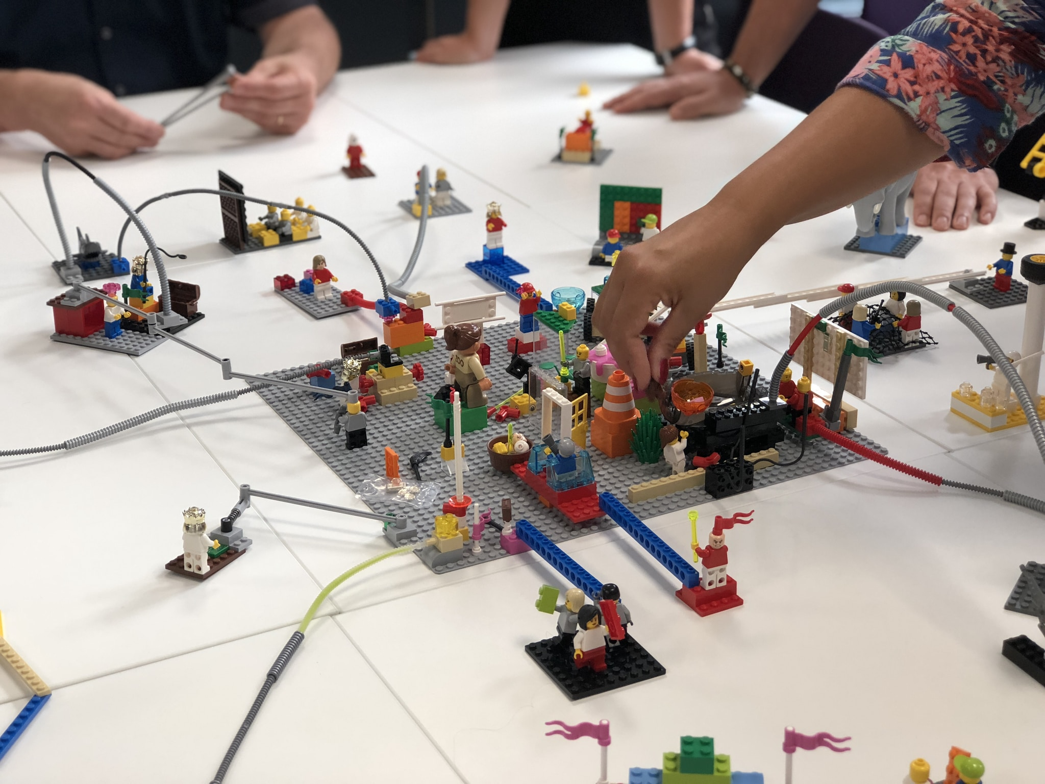 Lego city toy on table