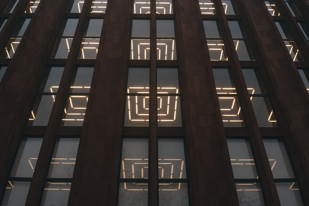 brown building during night