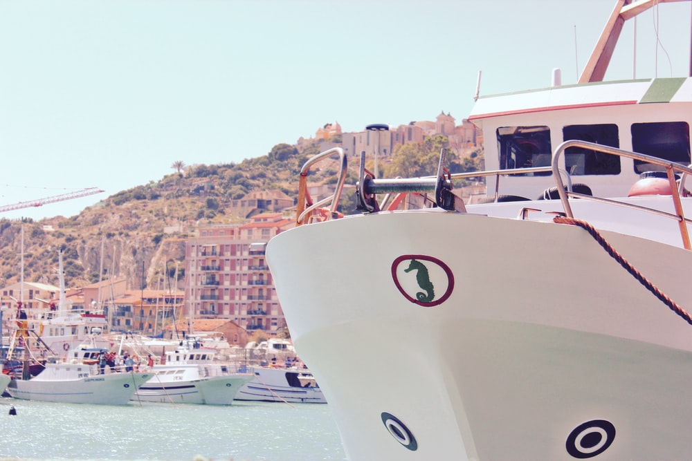 white yachts on body of water viewing hotels and houses