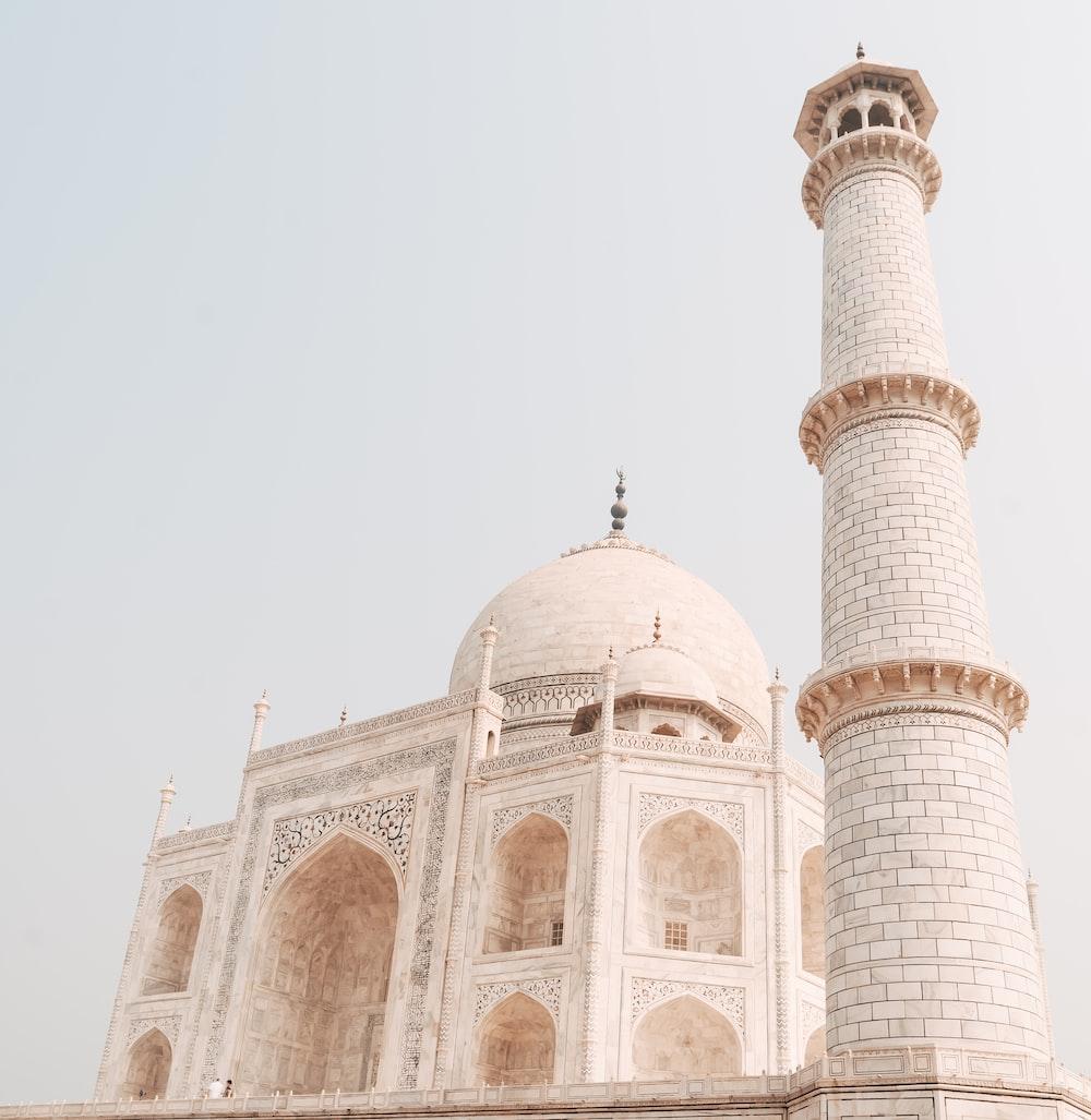 Minaret Of Taj Mahal, Agra in India