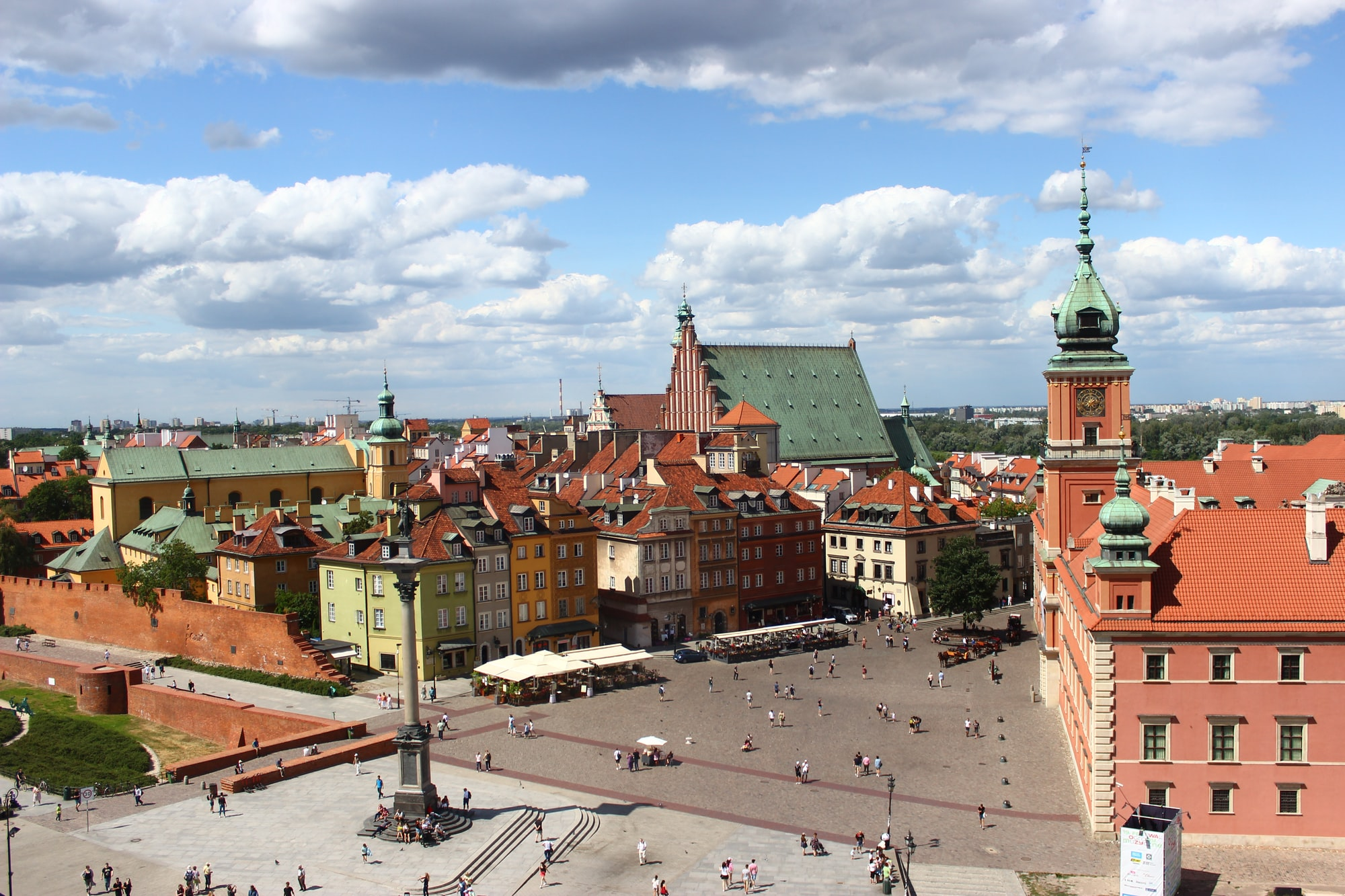 Vue sur la Vieille Ville de Varsovie en Pologne