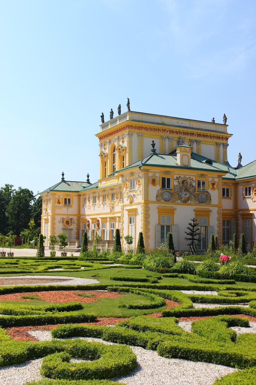 mansion near garden during day