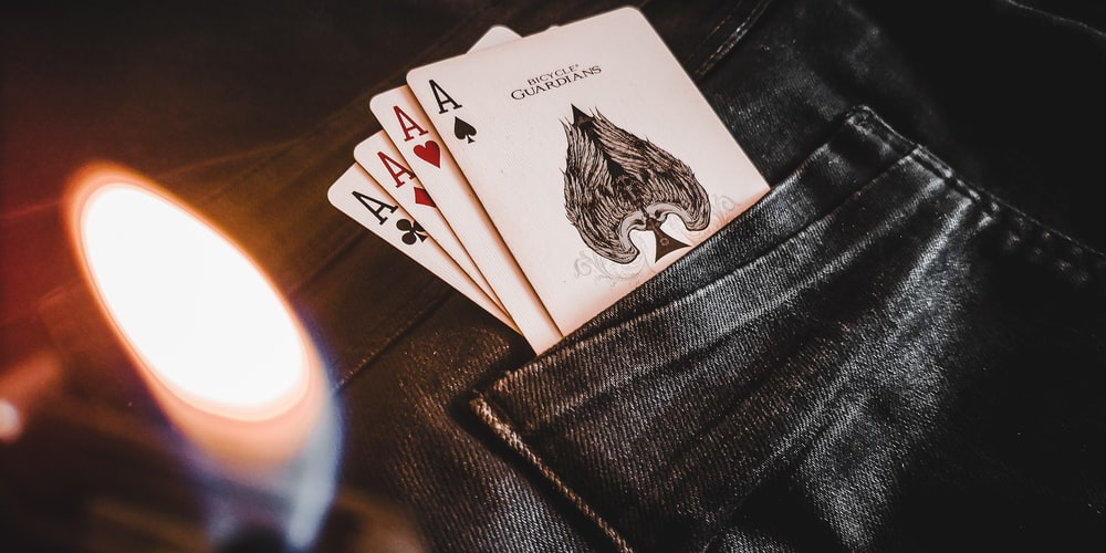 playing cards on the pocket