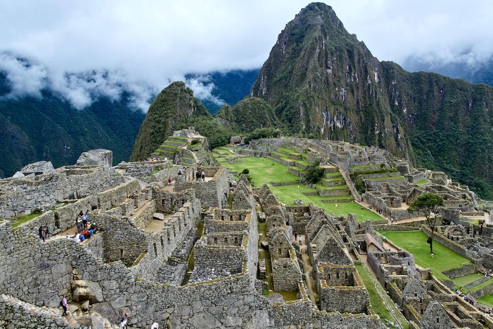 people on Machu Picchu during daytime