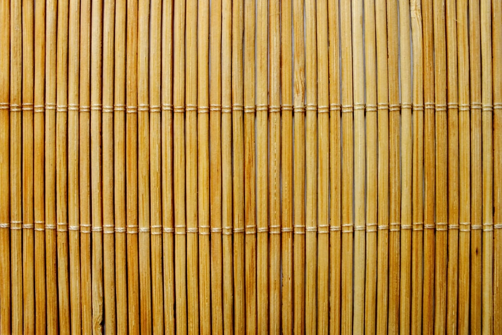 brown bamboo fence