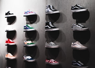 Vans shoes on display photograph