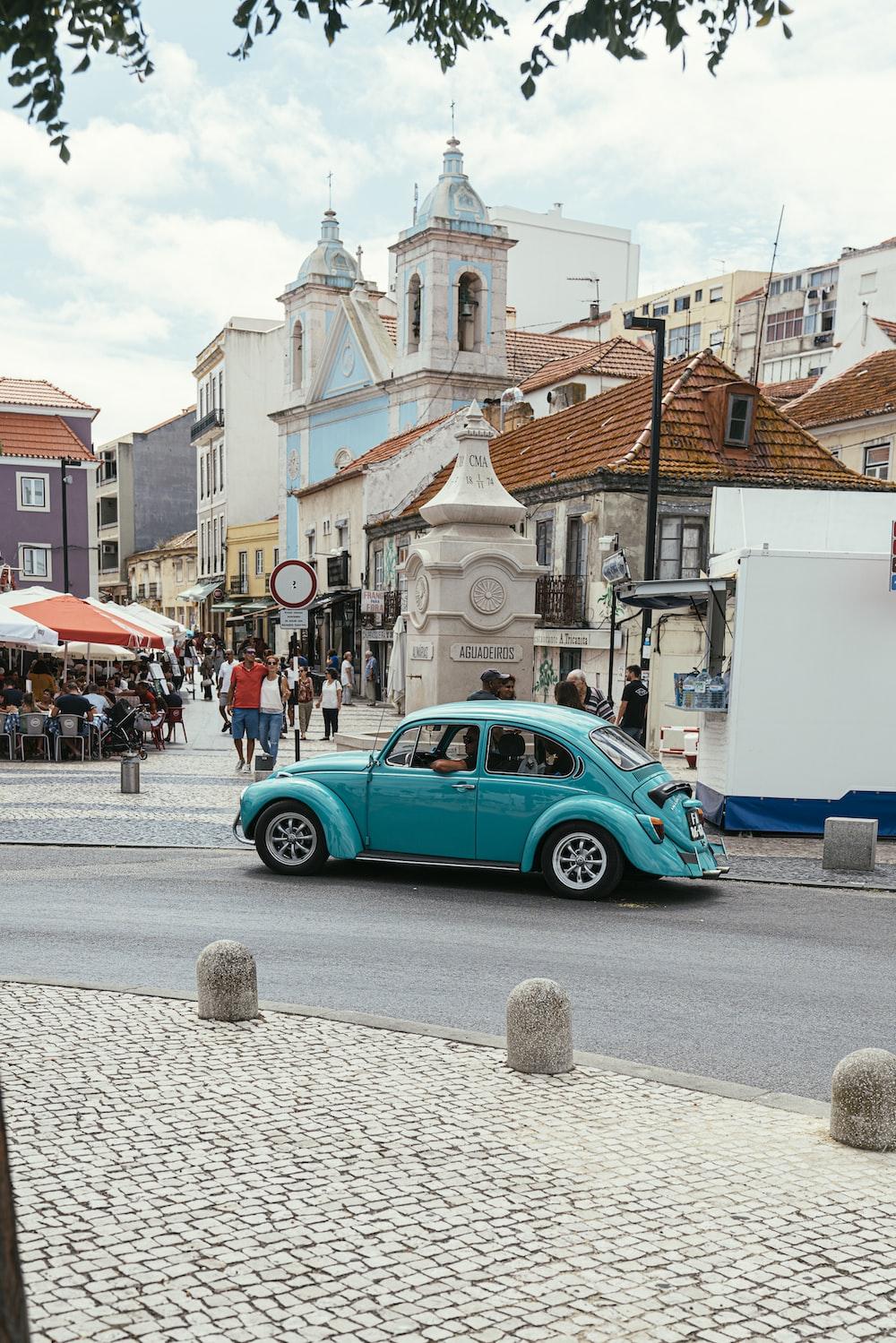 Volkswagen Beetle on road