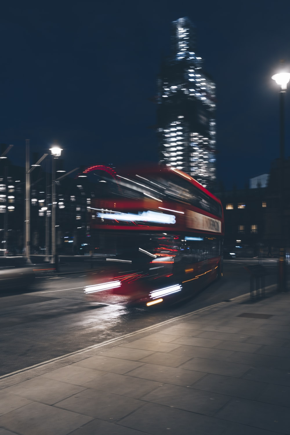 red double deck bus photograph