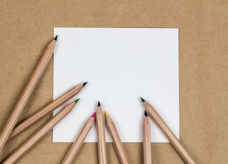 coloring pencils on white printer paper