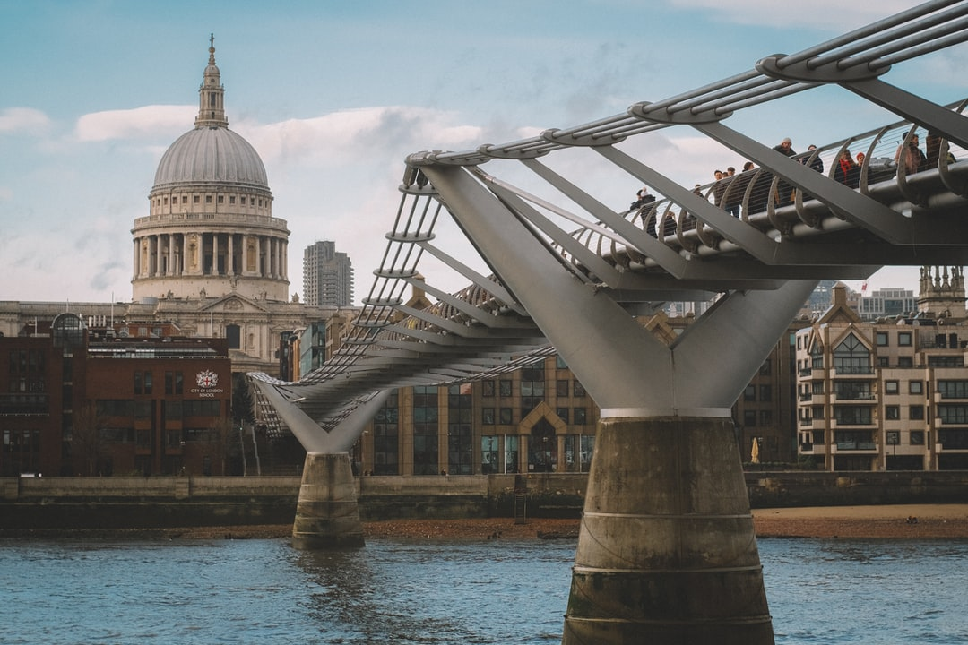 Millennium Bridge with St. Paul's Cathedral in the background
