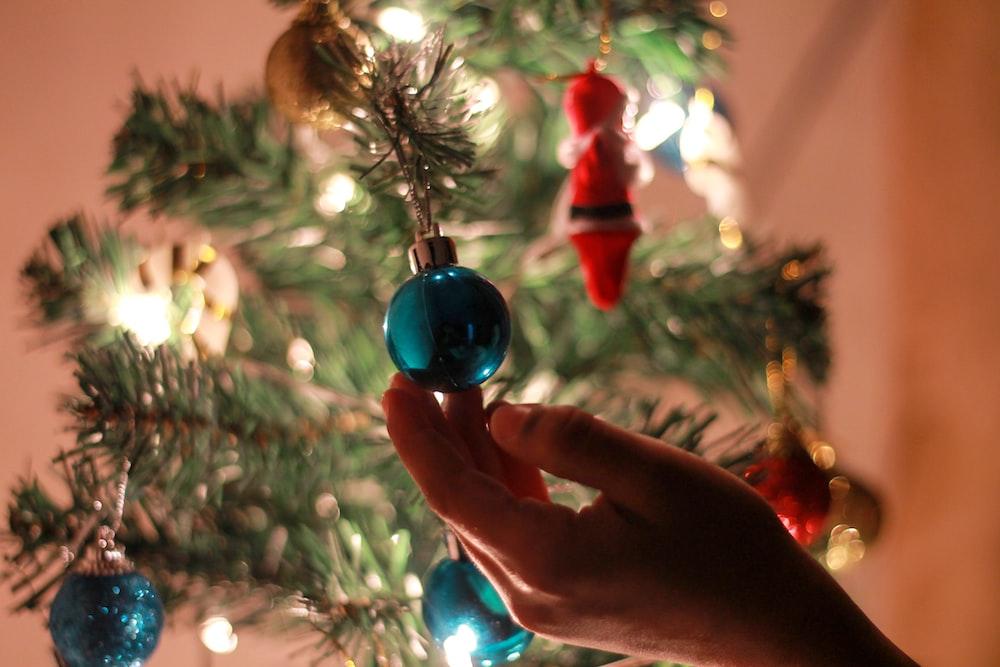 blue bauble ornament
