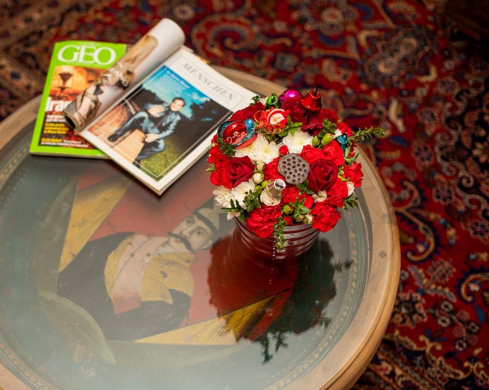 vaseful of flowers