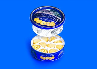 open Royal Dansk butter cookies