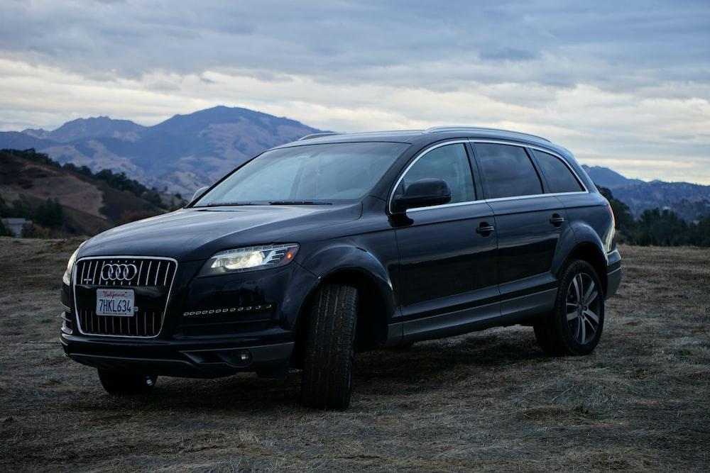 black Audi SUV