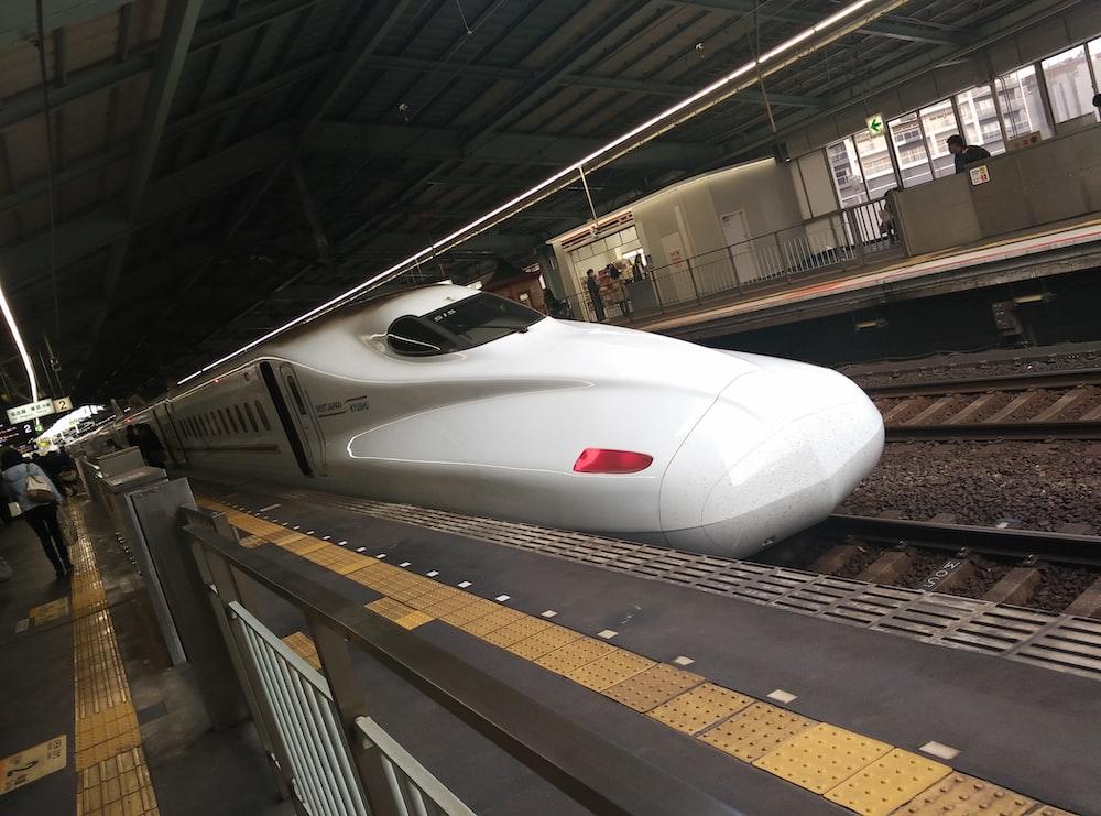 white bullet train