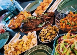 assorted-type foods