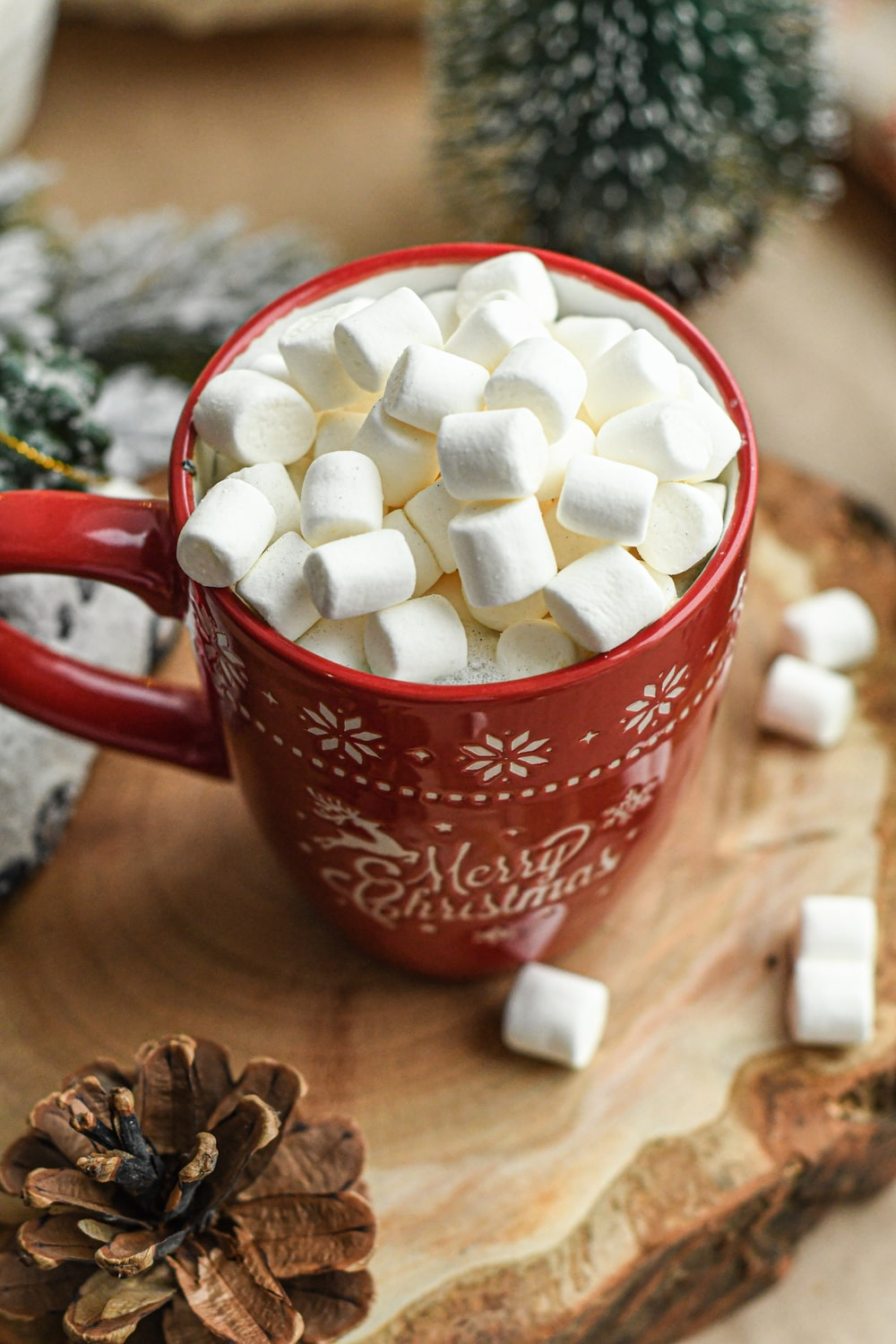 white marshmallow in cup