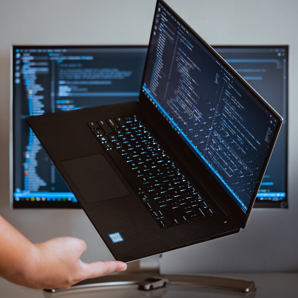 turned-on laptop computer