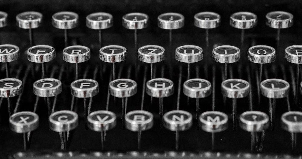 black and gray typerwriter