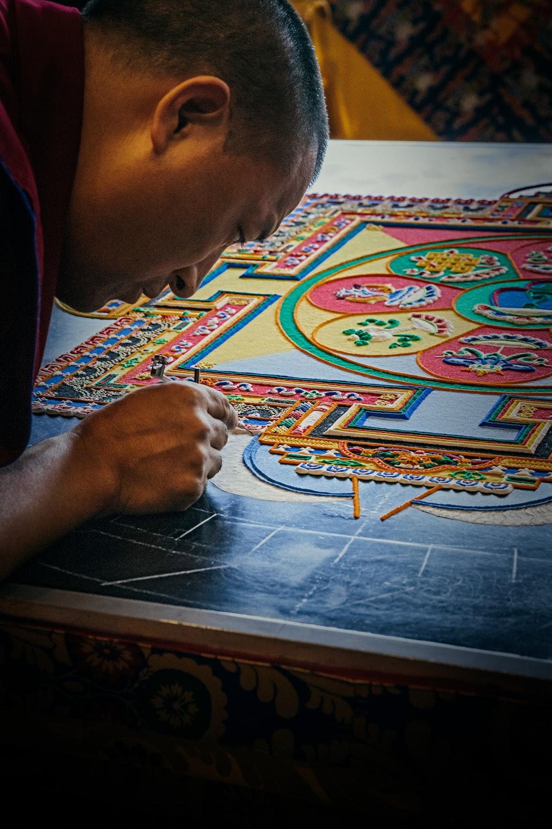 Tibetan Monks Sand Mandala Creation
