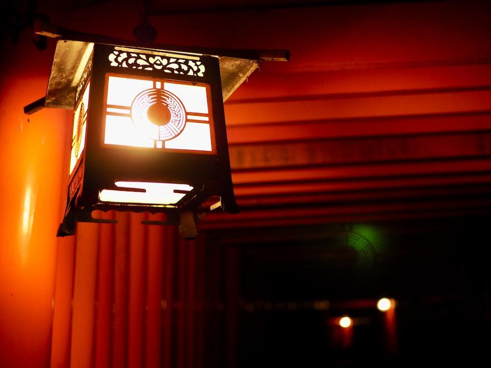 lighted lantern