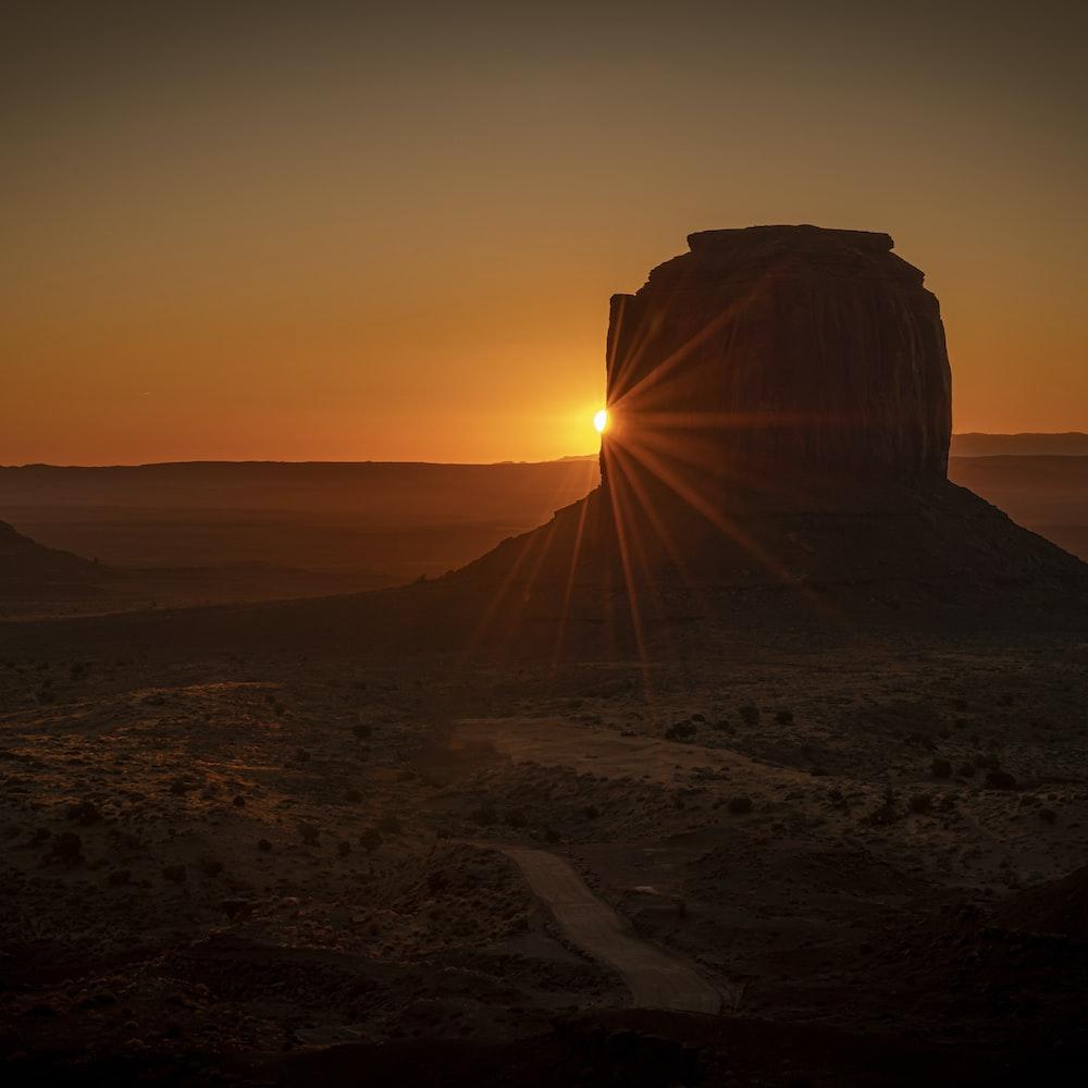 desert during sunrise